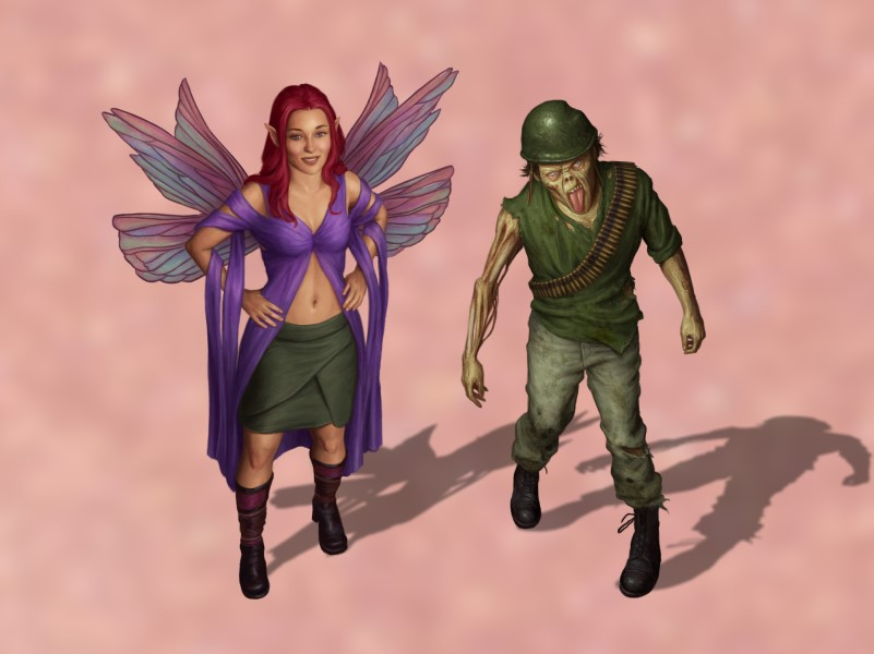 The fairy and the zombie