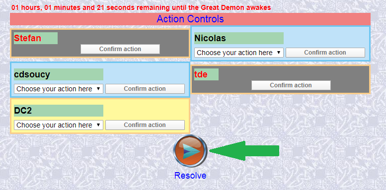 Resolving Actions